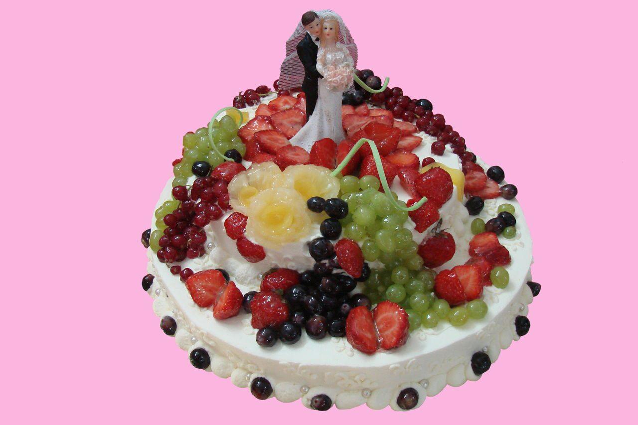 Торт свадебный с фруктами своими руками